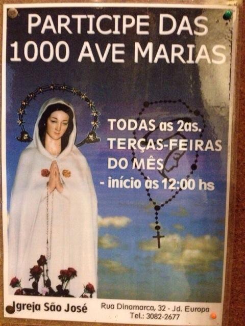 ORAÇÃO MIL AVE-MARIAS (10/02/2015)