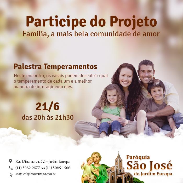 """2° Encontro do Projeto """"Família, a mais bela comunidade de amor"""""""