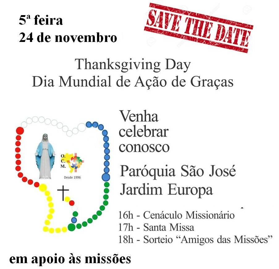 Thanksgiving Day - Dia Mundial de Ação de Graças