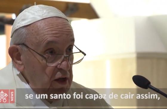 Papa: a mundanidade, um lento deslizar no pecado